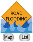 Flooded Road Map